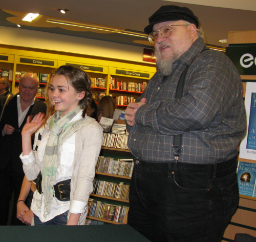 GRRM and Maisie Williams - Arya Stark