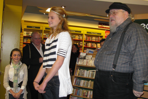 GRRM and Sophie Turner - Sansa Stark