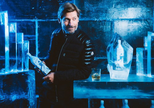 Game of Thrones star Nikolaj Coster-Waldau enjoys an exclusive first sip of the new, limited-edition White Walker by Johnnie Walker blend in anticipation of the show's 8th and final season